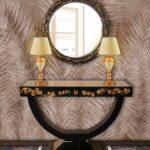 consolle specchio mirror lamp