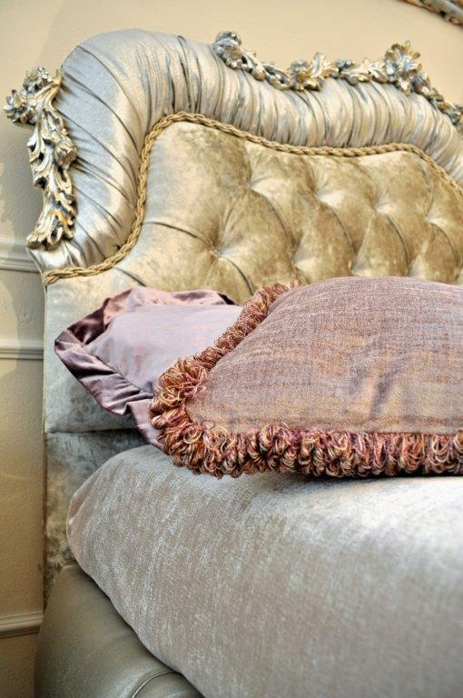 carved upholstered isella bed